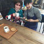 ハワイ道の駅 喫茶 パティシエさんと ツーショット〜(^.^)